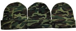 3 Units of Yacht & Smith Unisex Winter Beanie Hats, Thermal Sport Camouflage - Winter Beanie Hats