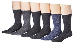 6 Units of 6 Pairs Of Socksnbulk Mens Cotton Weather Collection Thermal Socks - Mens Thermal Sock