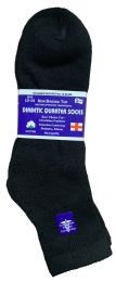 6 Units of Yacht & Smith Men's Loose Fit NoN-Binding Soft Cotton Diabetic Quarter Ankle Socks,size 10-13 Black - Big And Tall Mens Diabetic Socks