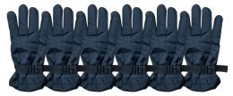 6 Units of Yacht & Smith Men's Winter Warm Gloves, Fleece Lined With Black Gripper - Ski Gloves