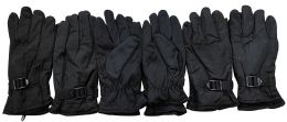 6 Units of Yacht & Smith Men's Winter Warm Gloves, Fleece Lined With Black Gripper - Fleece Gloves