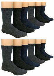 12 Pairs Of excell Mens Heavy Duty Wool Blend Winter Warm Work Socks - Mens Thermal Sock