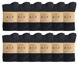 12 Units of Yacht & Smith Women's Knee High Socks, Solid Black 90% Cotton Size 9-11 - Womens Knee Highs