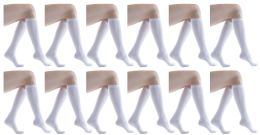 12 Units of Yacht & Smith Women's White Only Long Knee High Socks, Sock Size 9-11 - Womens Knee Highs