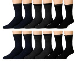 12 Units of Yacht & Smith Non Slip Gripper Bottom Men's Winter Thermal Tube Socks Size 10-13 - Mens Thermal Sock