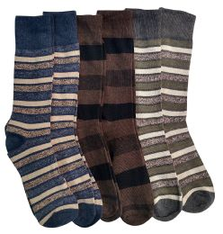 Nicole Miller Cotton Fashion Dress Socks Stripes Solids And Argyles (jW-10-13-a) - Mens Dress Sock