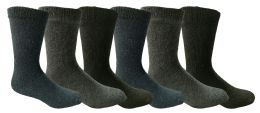 6 Units of Yacht & Smith Men's Thermal Crew Socks, Cold Weather Thick Boot Socks Size 10-13 - Mens Thermal Sock
