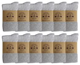 12 Units of Yacht & Smith Women's Knee High Socks, Solid Gray 90% Cotton Size 9-11	 - Womens Knee Highs