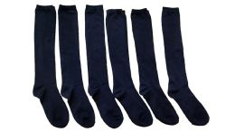 6 Units of Yacht & Smith Girls Knee High Socks, Solid Colors Navy - Girls Knee Highs