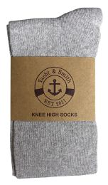6 Units of Yacht & Smith Women's Knee High Socks, Solid Gray 90% Cotton Size 9-11	 - Womens Knee Highs