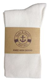 6 Units of Yacht & Smith Women's White Only Long Knee High Socks, Sock Size 9-11 - Womens Knee Highs