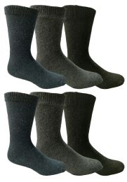 6 Units of Yacht & Smith Men's Thermal Crew Socks, Cold Weather Thick Boot Socks Size 10-13 - Mens Crew Socks