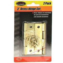 "72 Units of 3"" Brass hinge set with screws - Drills and Bits"