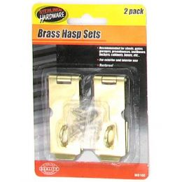 72 Units of 2 Pack brass hasp set with screws - Drills and Bits