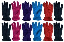 12 Units of Yacht & Smith Women's Fleece Gloves - Fleece Gloves