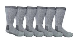 6 Pairs of excell Men's Merino Wool Camouflage Print Thermal Socks, Grays, Size 10-13 - Mens Thermal Sock