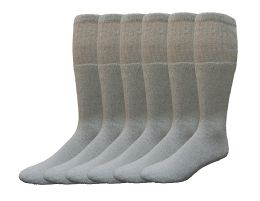 12 Units of Yacht & Smith Men's Cotton 28 Inch Tube Socks, Referee Style, Size 10-13 Solid Gray - Mens Tube Sock