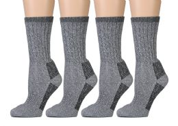 4 Pairs of Excell Merino Wool Socks for Hiking, Camping, Backpacking, Unisex (13-16 (Mens King Size), Gray) - Mens Thermal Sock