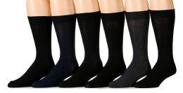 6 Units of SOCKSNBULK Men's Fashion Designer Dress Socks (Assorted Dark (6 Pairs)) - Mens Dress Sock