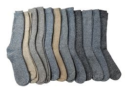 12 Pairs Of excell Mens Extreme Weather Wool Boot Socks Size 10-13 - Mens Thermal Sock