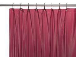 36 Units of Peva Shower Curtain Burgundy - Shower Curtain