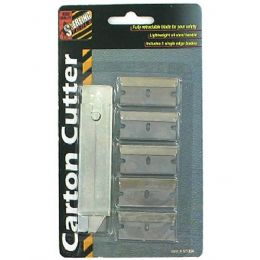 72 Units of Carton Cutter With Extra Blades - Box Cutters and Blades