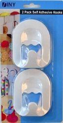 48 Units of Jumbo 2 Pack Self Adhesive Hooks - Hooks