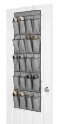 24 Units of Over The Door 20 Pocket Shoe Organizer Extra Large Pockets - Footwear Accessories