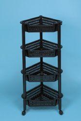 12 Units of 4 Tier Black Corner Rack - Storage & Organization