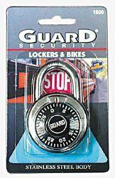 24 Units of Guard Combination Lock Hardewned Steel - Padlocks and Combination Locks