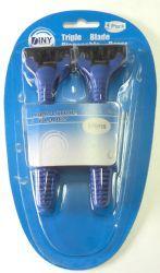 48 Units of 4 Pack Mens Swivel Head 3 Blade Disposable Razor - Shaving Razors