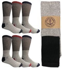 120 Units of Yacht & Smith Men's Winter Thermal Tube Socks Size 10-13 - Sock Pallet Deals