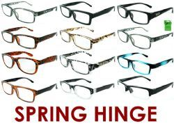 300 Units of 3.50 Reading Glasses with Spring Hinge - Reading Glasses