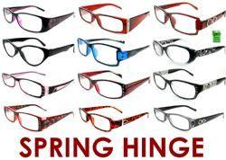399 Units of 4.00 Spring Hinge Reading Glasses - Reading Glasses
