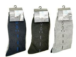 144 Units of Mens Dress Socks 2 Pack - Mens Dress Sock