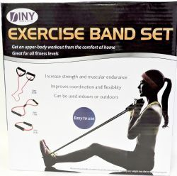12 Units of Fitness Exercise Band Set with Storage Bag - Workout Gear
