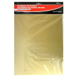 72 Units of 10 Piece. Sandpaper Asstortment - Paint and Supplies