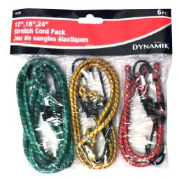 72 Units of 6 PIECE BUNGEE CORDS - Bungee Cords