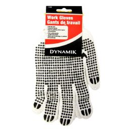 72 Units of Rubber Grip Cotton Work Gloves - Working Gloves
