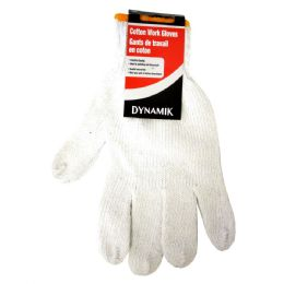 72 Units of White Cotton Gloves - Working Gloves