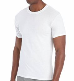 excell 3 Pack Mens Plain White Crew Neck T-Shirts Tagless Soft Cotton (X-Large, White)