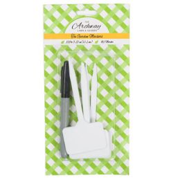 48 Units of Tee Garden Markers 10pc 5.25in White Plastic With Marker Garden blc - Garden Tools