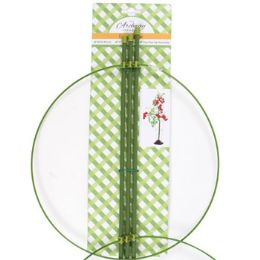24 Units of Tomato Cage Plastic 36in H Ring & Stakes Garden Tie On Card - Thermometer