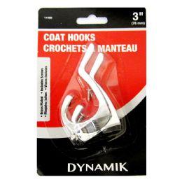 144 Units of 2 Piece Coat Hook - Hooks