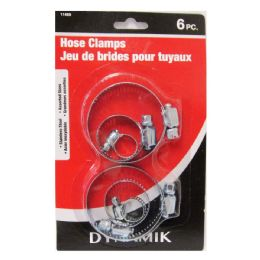 96 Units of 6 PIECE DELUXE HOSE CLAMPS - Clamps