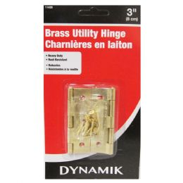 """72 Units of 2 Piece. 3"""" Brass Utility Hinges - Hooks"""