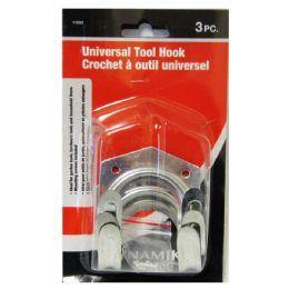 72 Units of 3 Piece Universal Tool Hook - Hooks