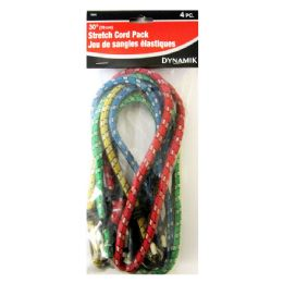 "72 Units of 4 PIECE. 30"" STRETCH CORD PACK - Bungee Cords"