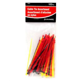 72 Units of 100 Piece Assorted Cable Ties - Wires