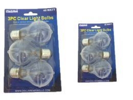 48 Units of Light Bulb 3pc 40watt Clear - Lightbulbs